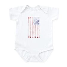 Faded American flag Infant Bodysuit