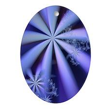 """Night Flowers"" Fractal Art Oval Ornament"