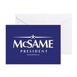"""McSame President"" Greeting Cards (10)"
