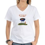 All Good In Da Grill Women's V-Neck T-Shirt