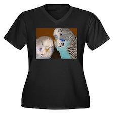 Eclectic Lyfe Women's Plus Size V-Neck Dark T-Shir