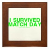 I Survived Match Day Framed Tile