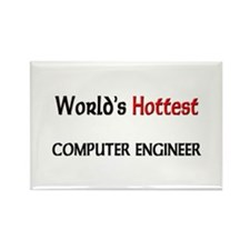 World's Hottest Computer Engineer Rectangle Magnet