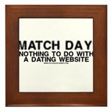 Match Day Dating Website Framed Tile