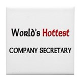 World's Hottest Company Secretary Tile Coaster