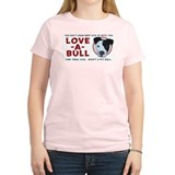 Love A Bull Women's Pink T-Shirt