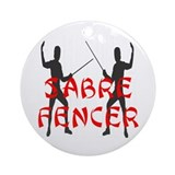 Sabre Fencer Ornament (Round)