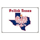 Polish Texan Eagle Banner