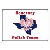 Honorary Polish Texan Banner