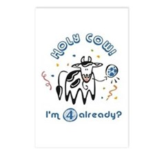 """Holy Cow! I'm 4 already?"" Postcards (Package of 8"
