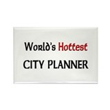 World's Hottest City Planner Rectangle Magnet (10