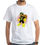 Atomic Beaver White T-shirt