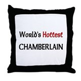 World's Hottest Chamberlain Throw Pillow