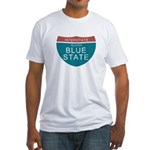 Alaska Blue State T-shirts Fitted T-Shirt