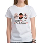 Peace Love Phlebotomy Women's T-Shirt