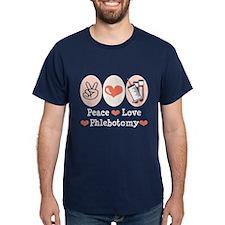 Peace Love Phlebotomy T-Shirt