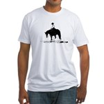 trail horse Fitted T-Shirt