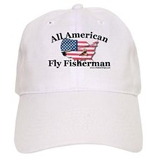 All American Fly Fisherman Ball Baseball Cap