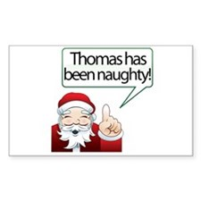 Thomas's Been Naughty Rectangle Decal