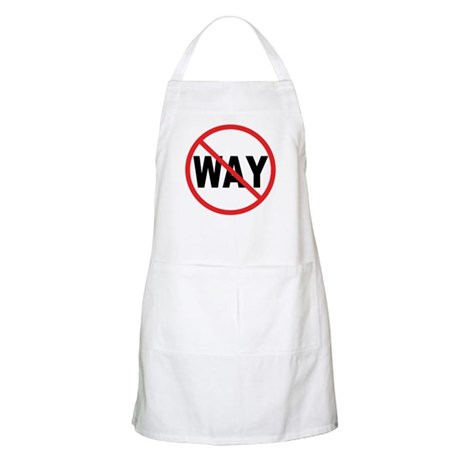 No Way! BBQ Apron