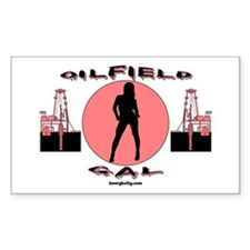 Oilfield Gal Rectangle Decal