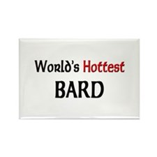 World's Hottest Bard Rectangle Magnet