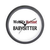 World's Hottest Babysitter Wall Clock