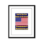 Land of the free home of the Framed Panel Print