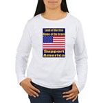 Land of the free home of the Women's Long Sleeve T