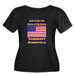 Land of the free home of the Women's Plus Size Sco