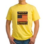 Land of the free home of the Yellow T-Shirt