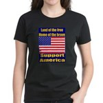 Land of the free home of the Women's Dark T-Shirt