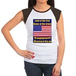 Land of the free home of the Women's Cap Sleeve T-