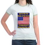 Land of the free home of the Jr. Ringer T-Shirt
