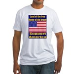 Land of the free home of the Fitted T-Shirt