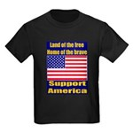 Land of the free home of the Kids Dark T-Shirt