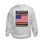 Land of the free home of the Kids Sweatshirt