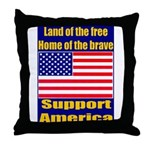 Land of the free home of the Throw Pillow