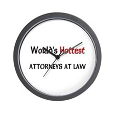 World's Hottest Attorneys At Law Wall Clock