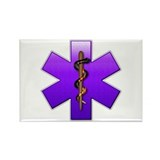 Star of Life(Violet) Rectangle Magnet (100 pack)