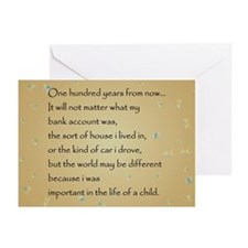 ONE HUNDRED YEARS Greeting Cards (Pk of 10)