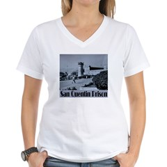 San Quentin Women's V-Neck T-Shirt