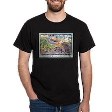 Deer & Bike Crossing T-Shirt