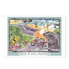Deer & Bike Crossing Postcards (Package of 8)