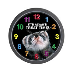Treat Time (black) Ferret Wall Clock