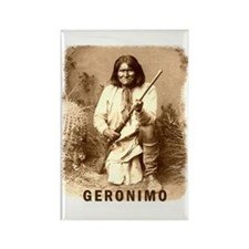 Geronimo Native American Apache Rectangle Magnet