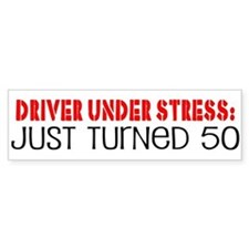 50th Birthday Bumper Car Sticker