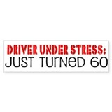 60th Birthday Bumper Car Sticker
