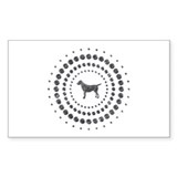 Dog Chrome Studs Decal