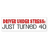 40th Birthday Bumper Bumper Sticker